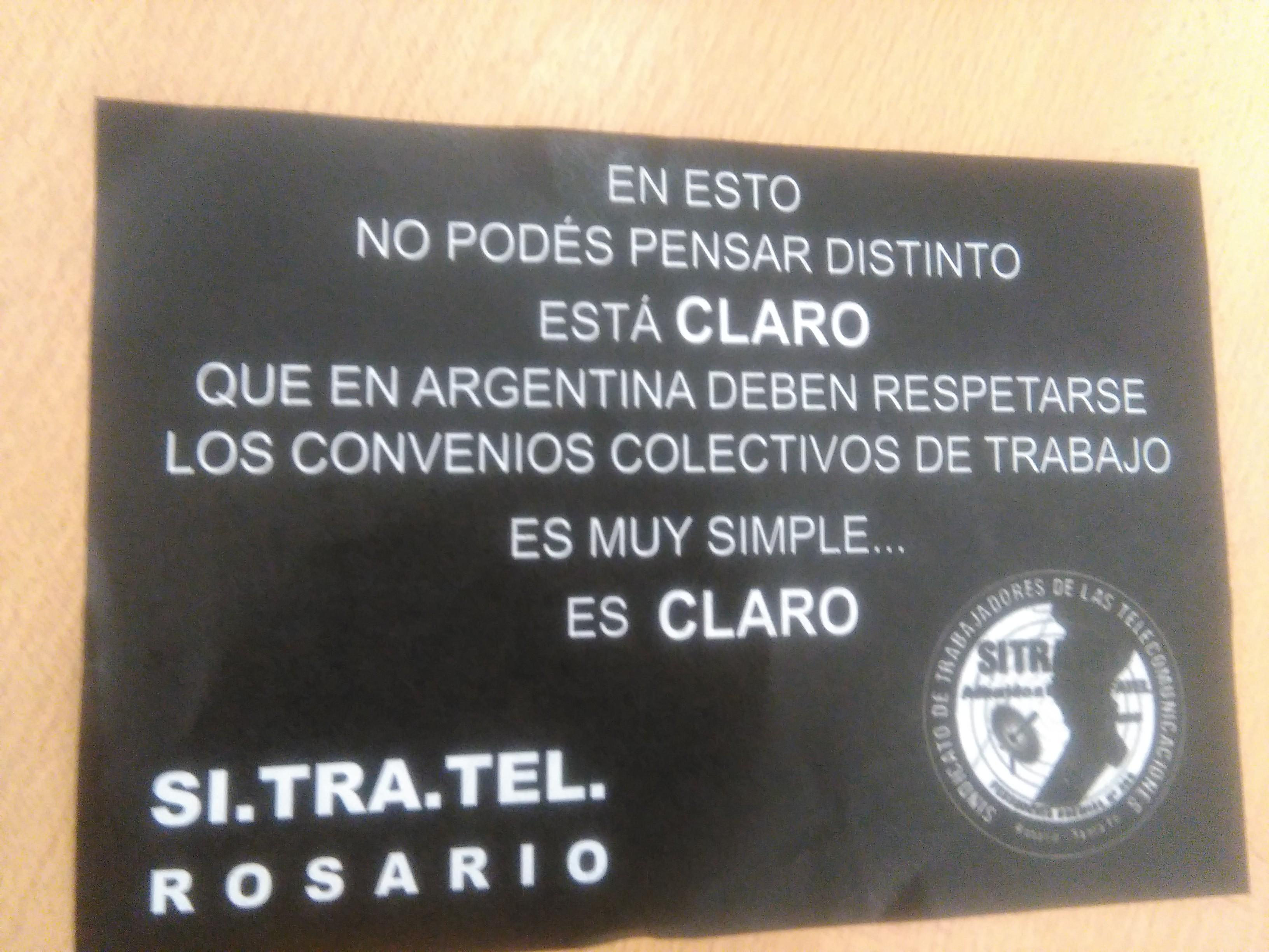 Jornada de Protesta en CLARO