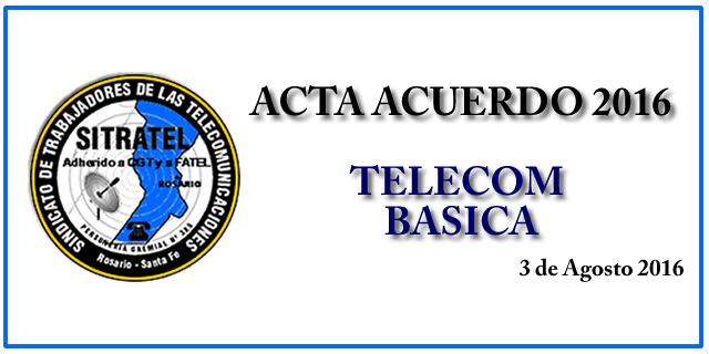 Acta Acuerdo 2016- Telecom Básica