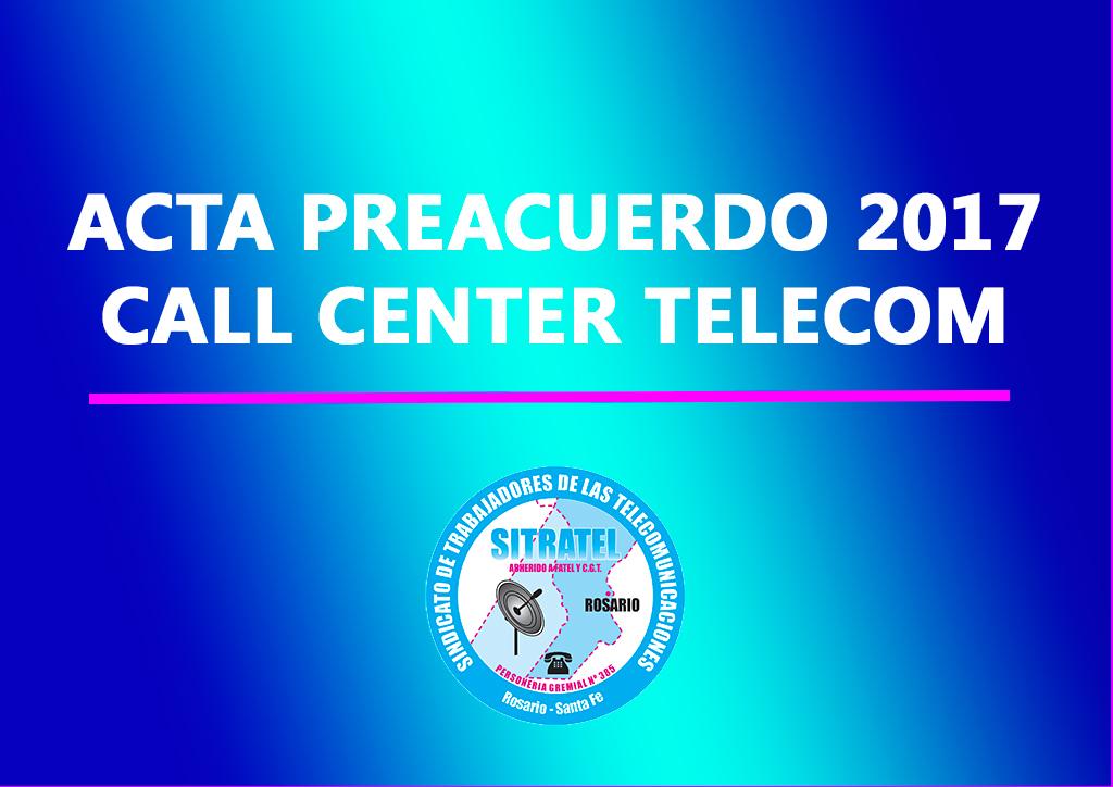 CCT: Actas Preacuerdo Salarial 2017 con Telecom Argentina