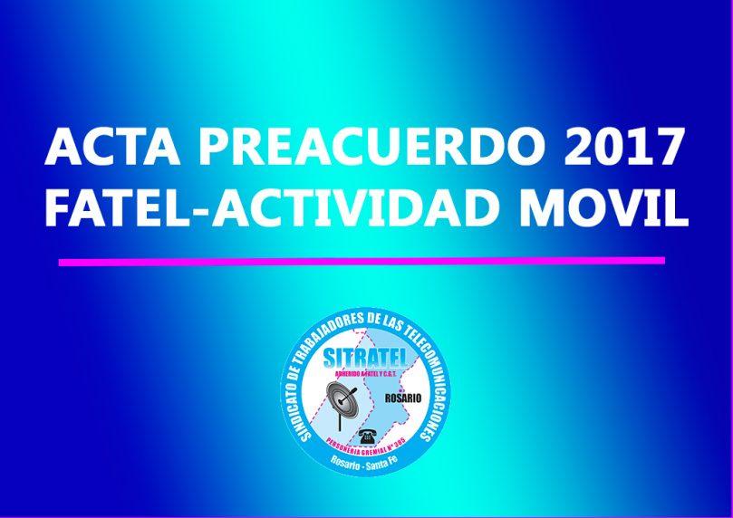 Actas Preacuerdo Salarial 2017 – Actividad Telefonía Móvil