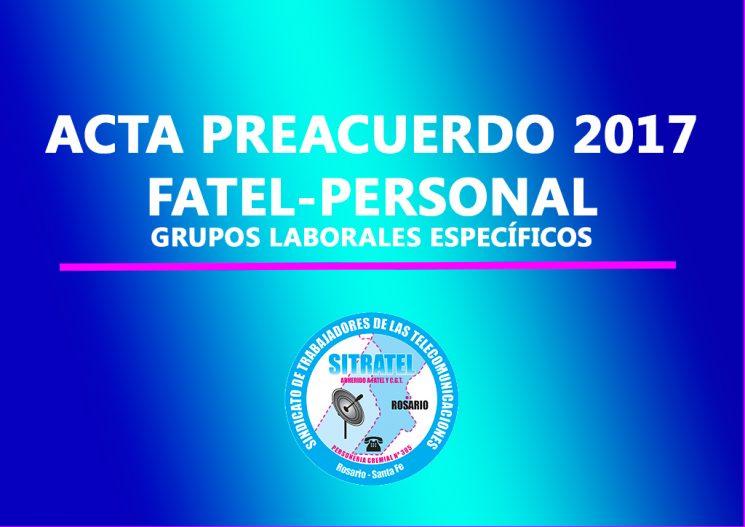 Actas Preacuerdo Salarial 2017 – PERSONAL (Grupos Laborales Específicos )