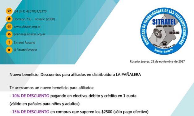 Nuevo beneficio – Descuentos para afiliados en distribuidora LA PAÑALERA