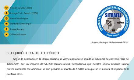 Se abonó el Día del telefónico | Segundo tramo del aumento salarial desde Febrero