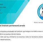 Jueves Santo el Sindicato permanecerá cerrado | Se reprograma la entrega de la Ayuda Escolar