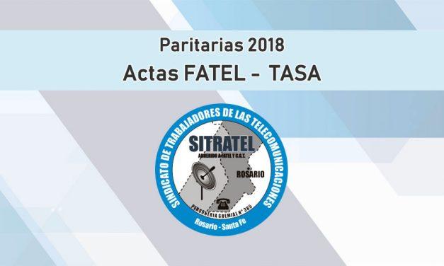 PARITARIAS 2018. ACTAS FATEL – TASA (BÁSICA)