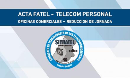 Actas FATEL – TELECOM PERSONAL. Oficinas Comerciales