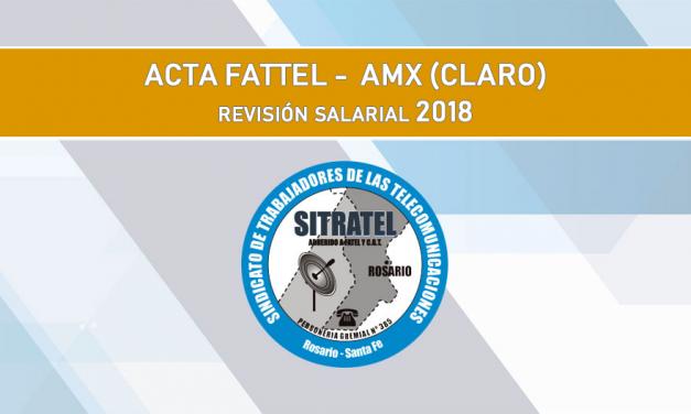 Revisión Salarial. Acta Acuerdo AMX -FATTEL-Foeesitra-Fopstta