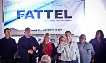 Elección de Autoridades de FATTEL  Nuestro compañero Claudio Cesar es electo Secretario General