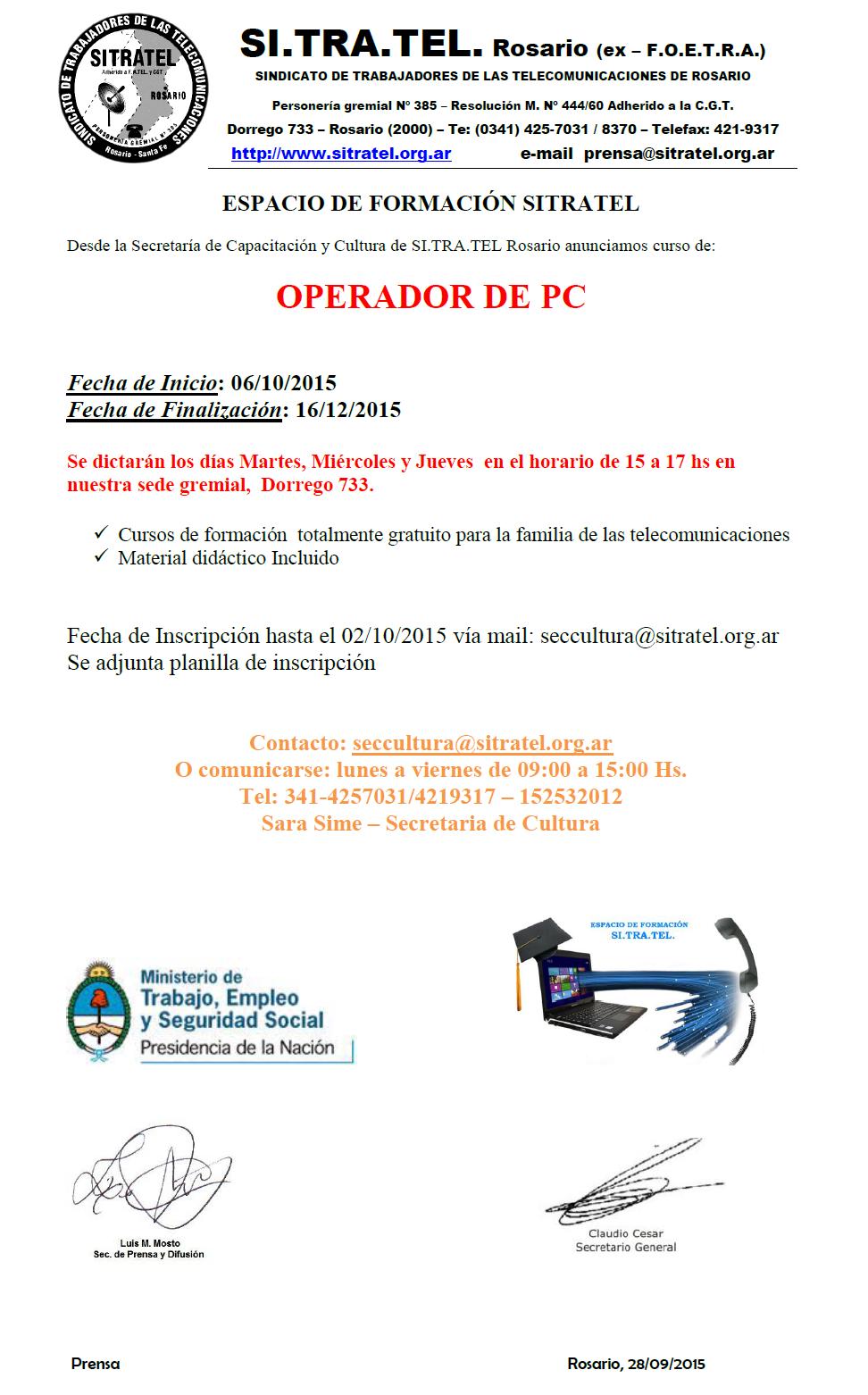 OPERADOR DE PC
