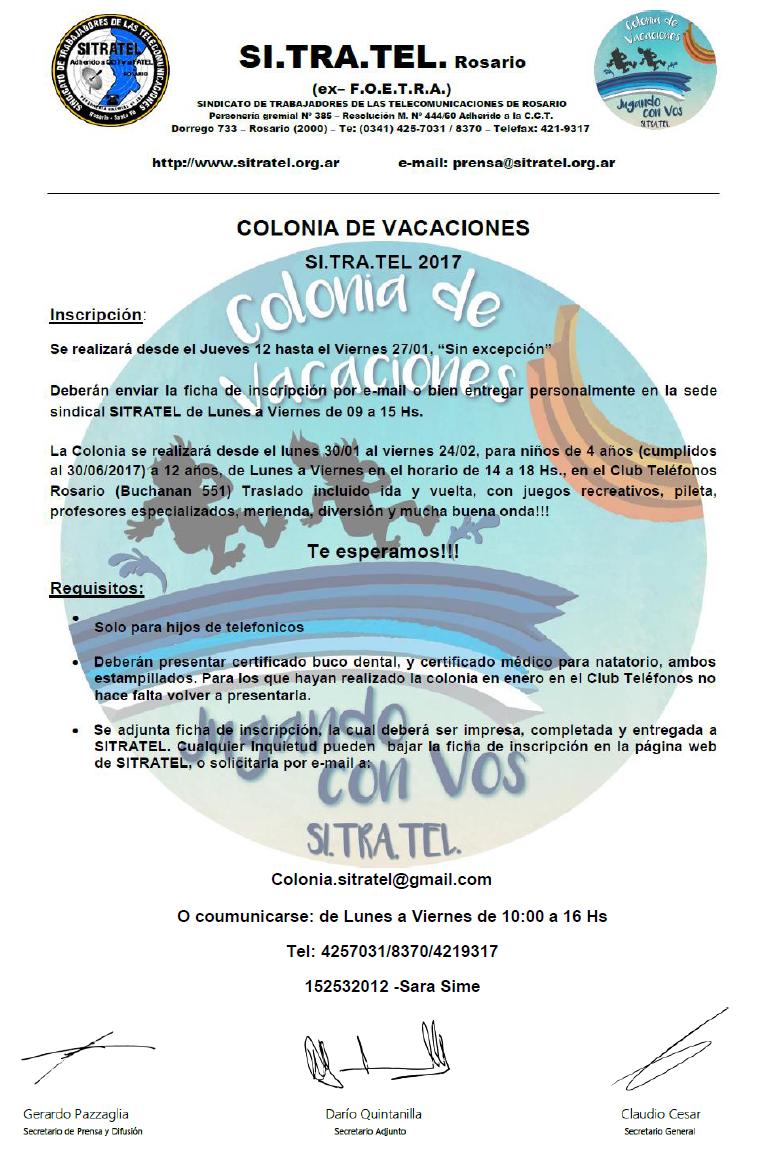 colonia 2017