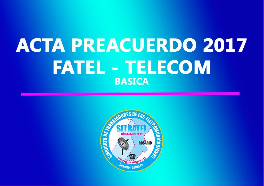 Actas Preacuerdo Salarial 2017 con Telecom Argentina