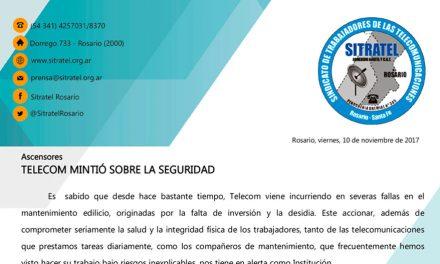 Ascensores TELECOM MINTIÓ SOBRE LA SEGURIDAD