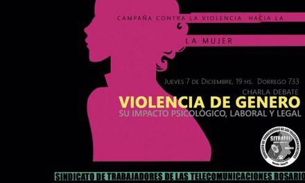 Charla debate sobre violencia de género