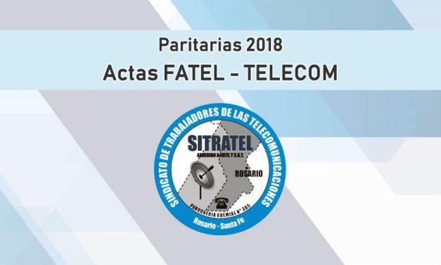 Paritarias 2018. Actas FATEL – Telecom (Básica)