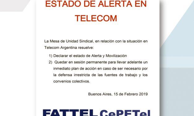 Comunicado de la Mesa de Unidad Sindical – Estado de Alerta en TELECOM