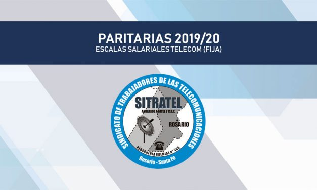 PARITARIA 2019/20. ESCALAS SALARIALES FATTEL – TELECOM ( Fija)