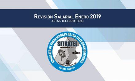 Revisión Salarial Enero 2019 – Telecom (básica)