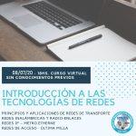 CURSO ON LINE: INTRODUCCION A LAS TECNOLOGIAS EN REDES * nueva comisión