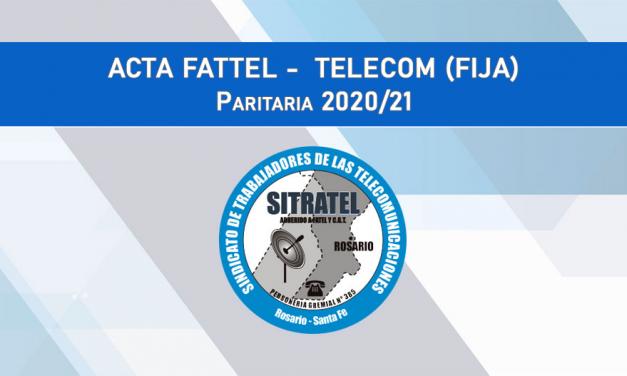 Paritarias 20-21, segunda revisión- Actas FATTEL – Telecom (Básica)