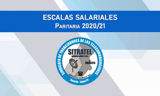 PARITARIA 2020/21 – ESCALAS SALARIALES