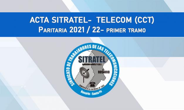 Paritarias 2021-22: Acta Salarial con TELECOM (CCT)