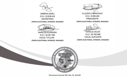 Junta electoral: Resolución Nro. 11